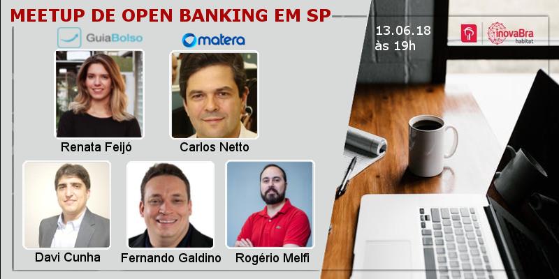 Participantes do meetup de open banking no inovaBra Habitat em 13/06/2018
